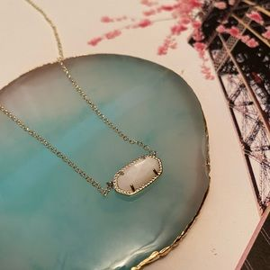 Pretty Kendra Scott Elisa Druzy Necklace-Gold NWT